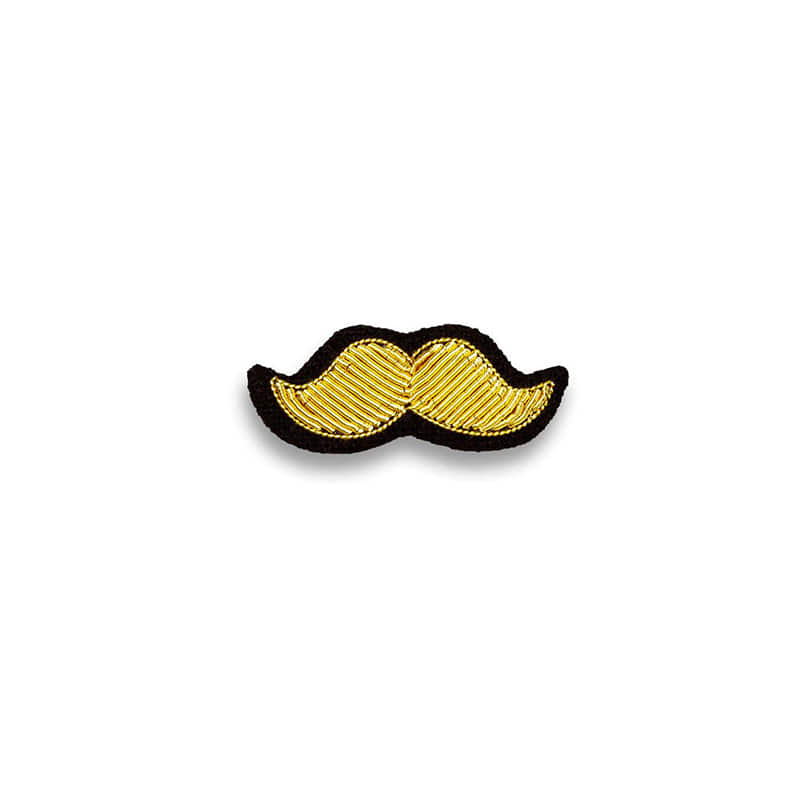 M&L Golden Mustache Brooch