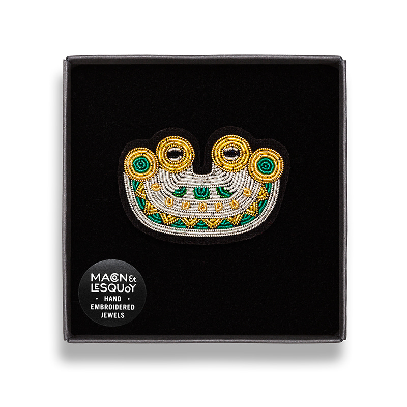 M&L Mayan Smile brooch