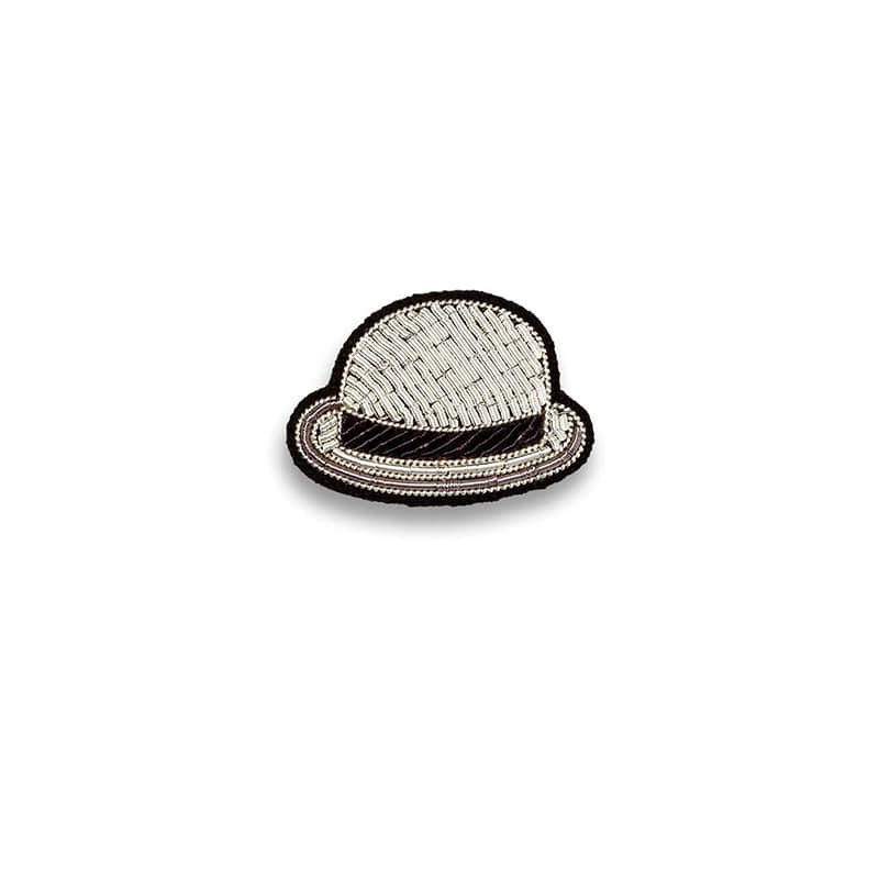 M&L Bowler Hat Brooch